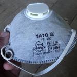 Респиратор противоаэрозольный с клапаном YATO YT-7490