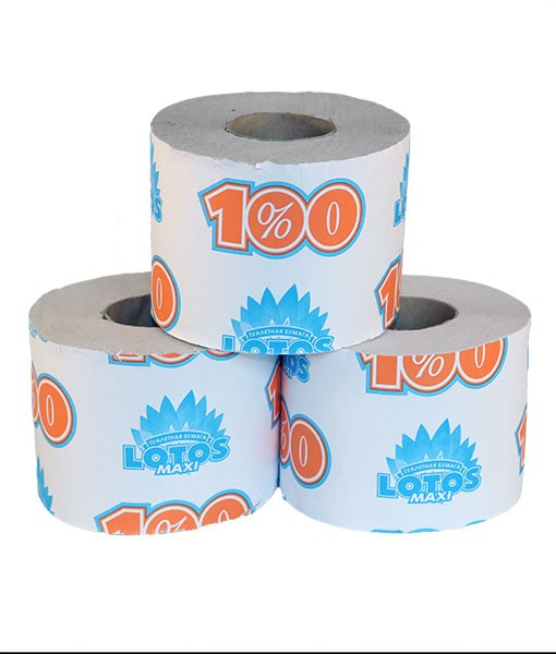 Туалетная бумага Лотос на втулке