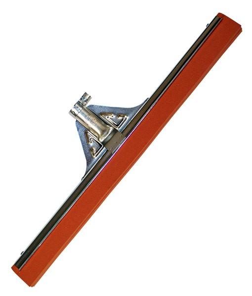 Сгон для пола стальной без рукоятки (красная резина)  55 см