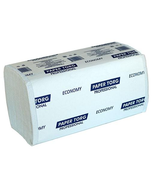 Листовые полотенца ZZ 200 (белые 1-слойные макулатура)