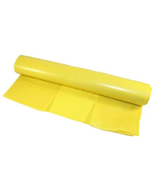 Мешки для мусора желтые 120л. LD 60 мкрн (10 шт)