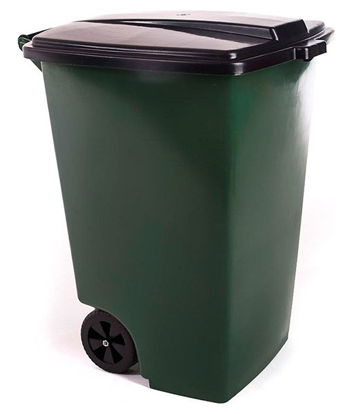 Контейнер для мусора 120 л с крышкой на колесах