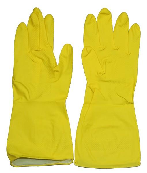 Перчатки хозяйственные желтые М