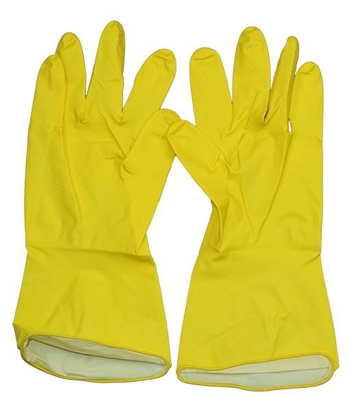 Перчатки хозяйственные желтые L