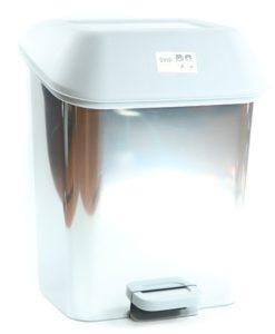Контейнер для мусора с педалью 15л декор металл