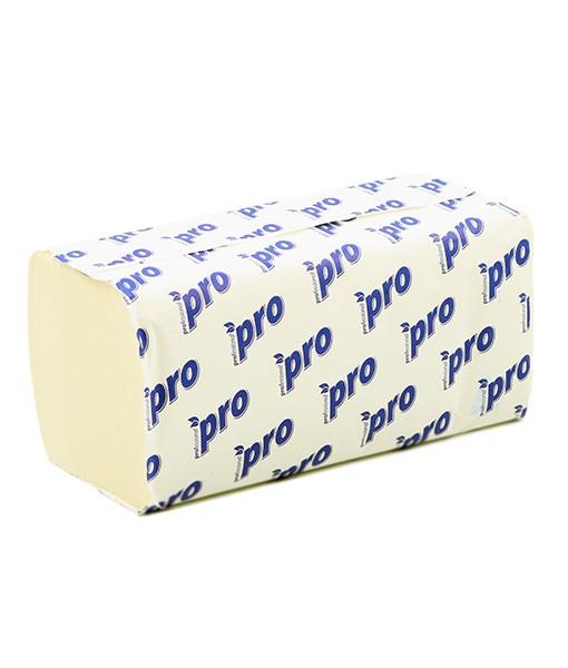 """Листовые бумажные полотенца """"PRO"""" 2-слойные, целлюлоза, 200 листов"""