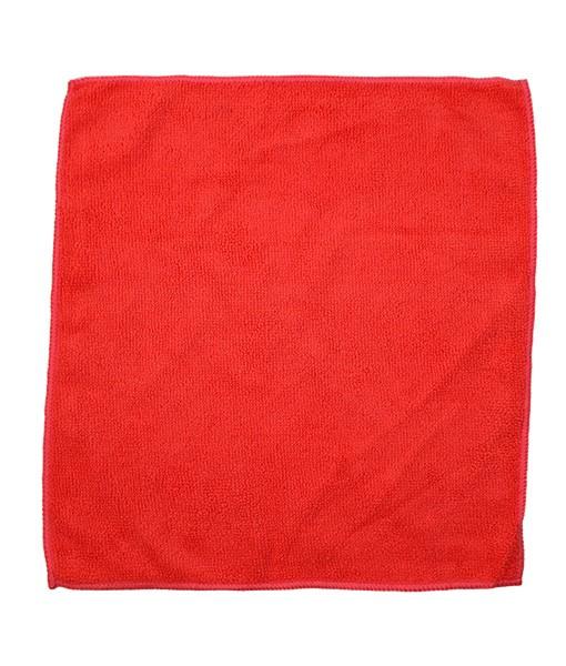 Салфетка из микрофибры 35*35см (красная) 220г/м2