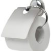 Держатель для туалетной бумаги с крышкой (хром)
