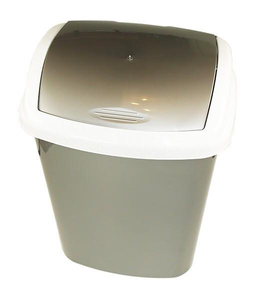 Ведро для мусора 25 л СТАЛЬНОЙ (пластик)